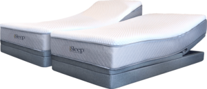 King Mattress from Two Twin XL iSleep Mattresses - on Adjustable Base